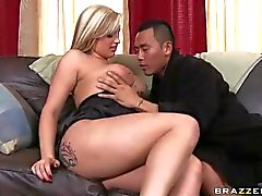 Unfaithful busty wife Dayna Vendetta takes asian c