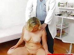 Big natural tits Kathy Sweet gyno exam