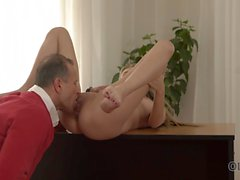 OLD4K. Nice old and young video in which skillful man fucks cutie