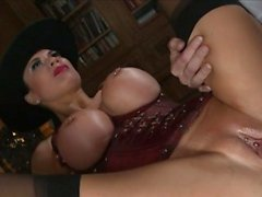 Busty Jasmine Jae satisfies two dicks