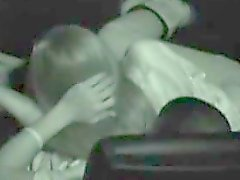 Hot teen jerks off and blows her bf in a movie theater