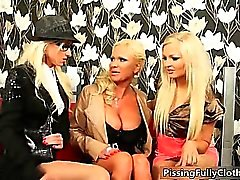 Three nasty milf get horny on the sofa part5