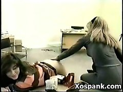 Wild Pervert Girl In Enjoyable Spanking Bondage