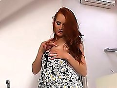 Pissing redhead strip snatch