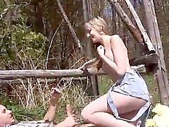 Puma swede cum Abby deep throating dick outdoor