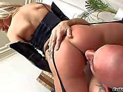 Omar Galanti loves Russian blonde's perfect round ass. Gorgeous girl