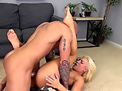 Wild blonde Cali spreads her legs for a hard dick and a rough fucking