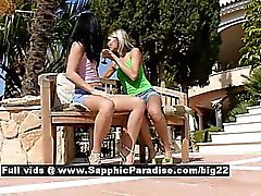 Dominika and Lulu from sapphic erotica lesbo girls licking