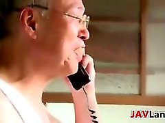 Naughty Japanese Wife Has Sex With Old Guy