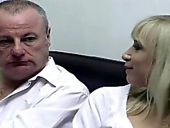 Dirty old man filmed with his much younger girlfriend