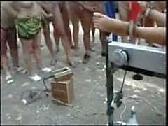 Pervert whores used at nude camping. Amateur public nudity