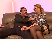 LaCochonne - Amateur French gets sandwiched in MMF threesome