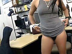 Latina lady pawns a Cello and gets boned to earn some cash