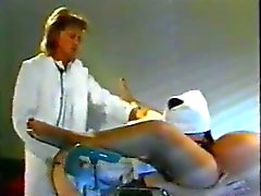 Doctor, nurse and pregnant! Retro porn!