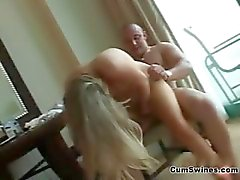 Fit natural blonde girl gets her tight