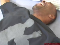 Blonde squirts tit milk on big black cock and gets fucks