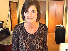 Country MILF gets a facial POV