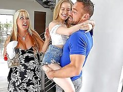 SPYFAM Fathers day sneaky movie fuck with step daughter