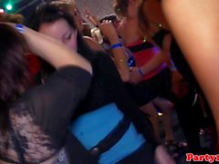 Euro amateurs pussyfucked on dancefloor
