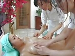 Japanese Lesbian Threesome Massage