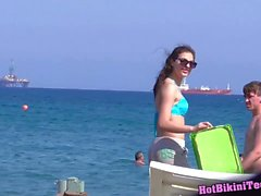 Beach Bikini Cameltoe Sexy Girls Voyeur Video HD Spycam