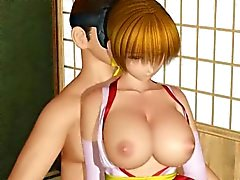 Busty 3D hentai girl gets tortured in 3some