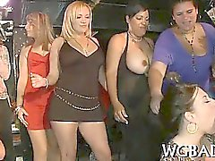 Racy striptease party