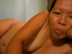 Filipina Grandmother Topless At Home
