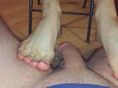 Foot Job/Blow Job in new Lingerie