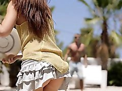 Perverted men and their raunchy girlfriend have group fun