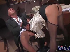 Simony is crazy about his massive cock