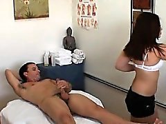 Hot wench prefers fucking rather than performing massage