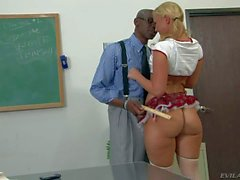 Briella Bounce gets her perfect Ass spanked by black teacher