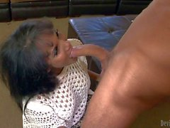 Anjanette Astoria is his young wife's mature mother. She sucks