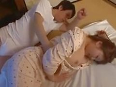 Japanese boys having sex with step mother