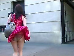 Windy Upskirt in Streets BVR