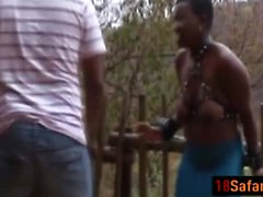 African big tits babes torture whipping outdoor