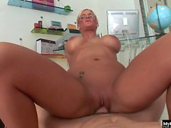 Phoenix Marie is a sexy blonde MILF with hot glasses...