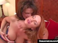 Texas Cougar Deauxma Goes Down On Mature Milf Janet-Mason!