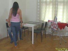 Cheating gf punished by her exbfs friend