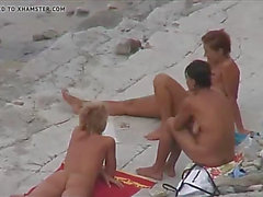 3 sweethearts stripped at nudist beach
