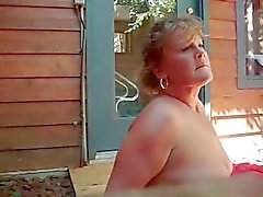 Fucking wife outdoors