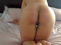 hornycams - Slut Gets Caning and Anal Pounding