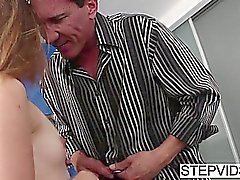 Stepfather fucks sexy Marissa Mae