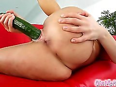 This sexy redhead spreads her pink pussy. She masturbates