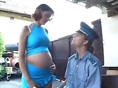 Pregnant girl gets it hard