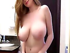 amateur, big boobs, blondine, softcore, solo