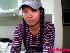 18 week pregnant thai teen heather deep nurse deepthroat throatpie creamthoat swallow cum