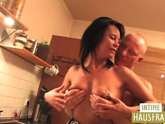 Mature fuck in the kitchen