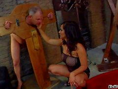 Man gets dominated by busty mistress Jay Ashley